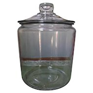 Large Vintage Clear Glass Apothecary Storage Jar