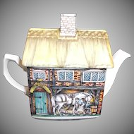 The Old Forge Tea Pot by Wellington China England Blacksmith Horse