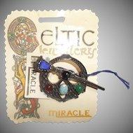 Miracle Celtic Brooch Kilt Pin on Original Card