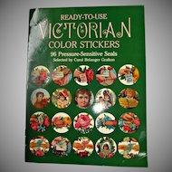 Vintage 1983 Victorian Color Stickers Booklet
