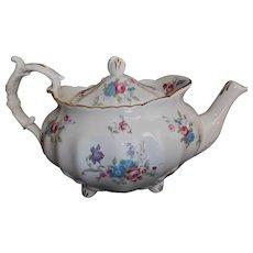 Hammersley Vintage Tea Pot Embossed Leaves Floral Gold Trim