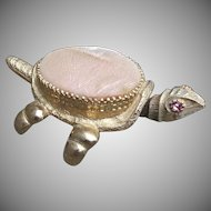 Vintage Trembler Nodder Turtle Pin Cushion