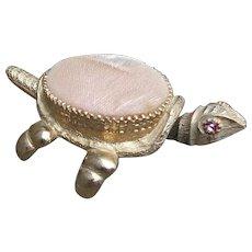 Vintage Trembler Nodder Turtle Pin Cushion