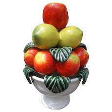 Amazing Vintage Fruit Bowl Tower made in Portugal Ceramic Stoneware