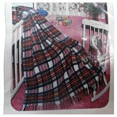 Lebanon Woolen Mills Banon Plaid Baby Blanket Vintage