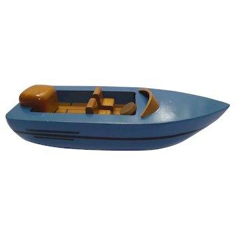 Vintage Handmade Wood Boat