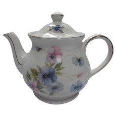 Vintage Sadler Windsor Tea Pot Lavender Pink Blue Pansies