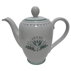 Green Thistle by Arabia Finland Tea Pot Vintage 1955 to 1970