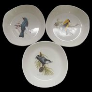 Vintage Songbird Bowls National Wildlife Federation Set of Three