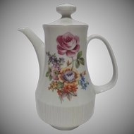 Colditz Tea Pot German Democratic Republic 1980s Floral MCM