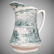 Alfred Meakin Antique Tintern Pitcher Green Transfer