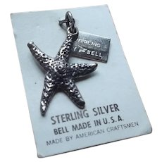 Vintage Bell Sterling Starfish Charm
