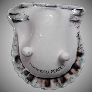Vintage Mikimoto Pearls Lustre Ware Advertising Ashtray Original Box