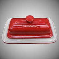 Le Creuset Red Stoneware Butter Dish One Stick