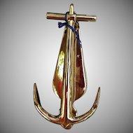 Vintage 1976 Bicentennial Baldwin Brass Anchor Door Knocker Nautical Ship Boat