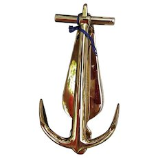 Vintage 1976 Bicentennial Baldwin Brass Anchor Door Knocker Nautical Ship Boat