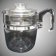 Vintage Pyrex 9 Cup Glass Coffee Maker Percolator