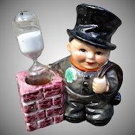 Goebel Vintage Egg Timer 1972 Chimney Sweep Figurine with Hour Glass Timer