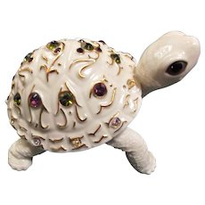 Lenox Vintage Woodland Jewels Porcelain Turtle Tortoise Figurine