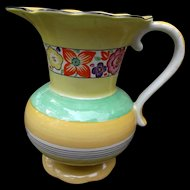 Old Morley Fox Homeleigh Ware Art Deco Style Jug Pitcher Hand Painted