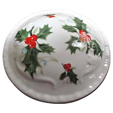Royal Grafton English Bone China Round Trinket Box Holly Berries