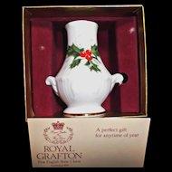 Royal Grafton Vintage English Bone China Vase Holiday Christmas