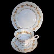 Shelley Fine Bone China Cup Saucer Plate Vintage Golden Harvest Trio