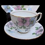 Wild Rose by Salisbury England Cup Saucer Plate Trio Vintage Fine Bone China