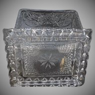 Sandwich Patterned Vintage Glass Cigarette Box by Duncan Miller Co. 1924 to 1955