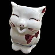 Shawnee Puss n Boots Red Bow Tie Creamer Vintage Pottery 1940s