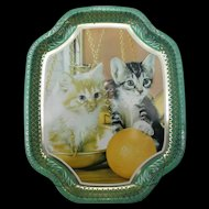 Vintage Decorative Tin Tray by Elite Trays made in England Kittens