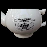 Walkers of London Vintage 1977 White Tea Pot