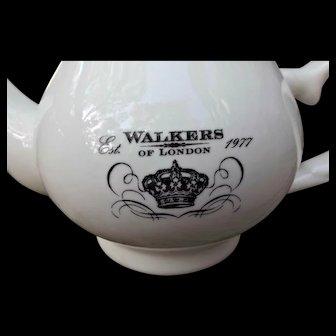 Walkers of London Vintage 1977 White Tea Pot