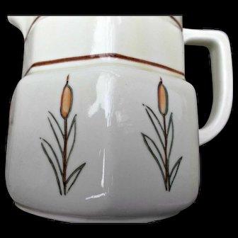 Vintage Porcelier Vitreous China Milk Cream Jug Pitcher Cat O Nine Tails