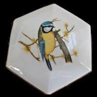 Enesco Vintage 1978 Ceramic Bird on Branch Trinket Candy Box
