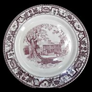 Walker China  Heartwell Farm Plate Purple Mulberry Transfer Restaurant Ware
