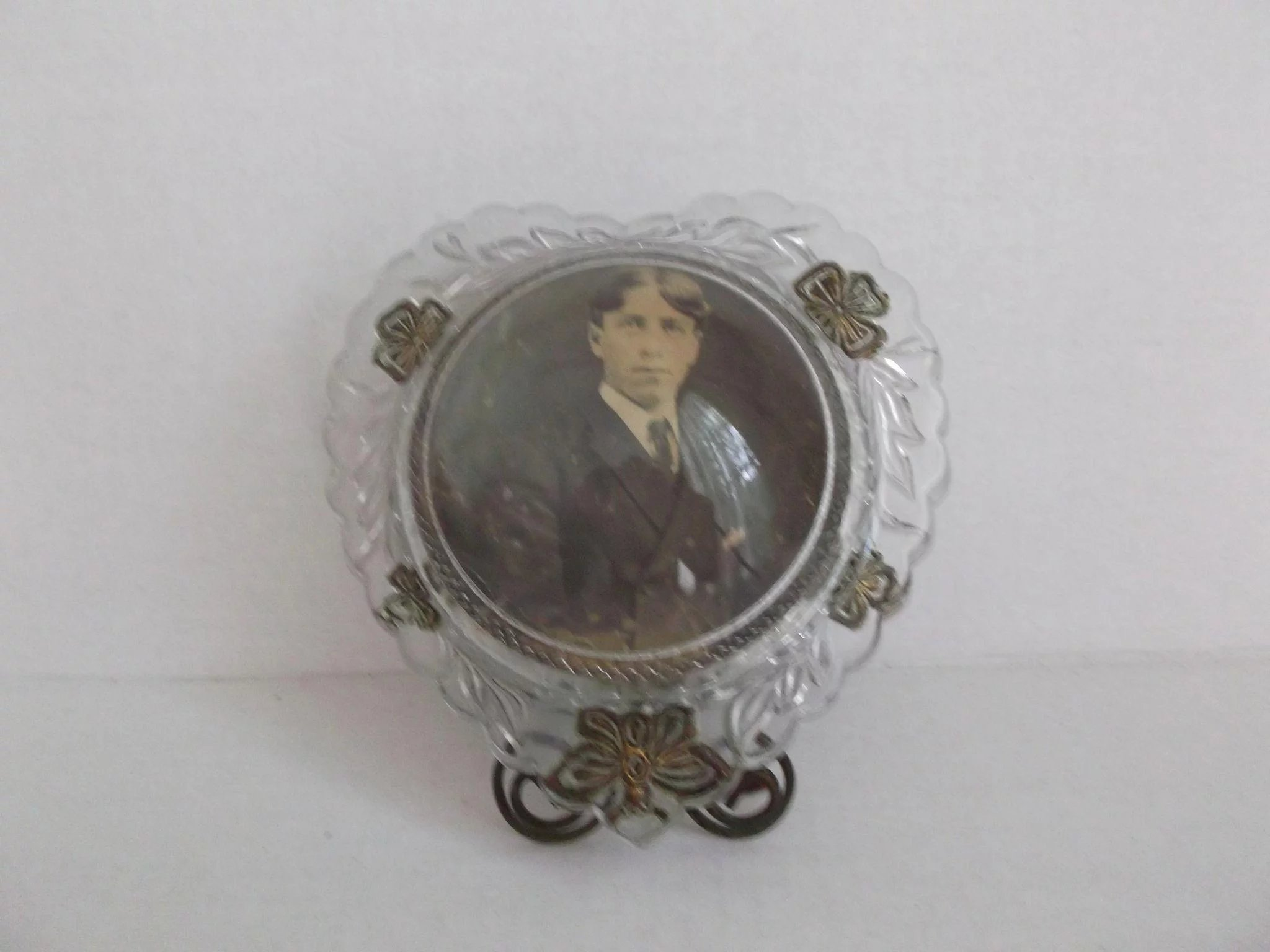 Reverse carved antique bubble glass frame circa 1910 art nouveau reverse carved antique bubble glass frame circa 1910 art nouveau click to expand jeuxipadfo Image collections