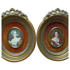 Cameo Creation Vintage Victorian Style Ladies Gilt Frames Ribbons Roses