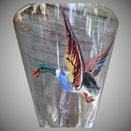 Flying Duck Footed Glass Tumblers Vintage Hunters  Barware