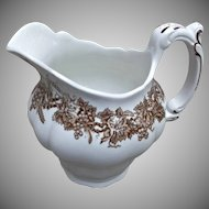 Booths England Vine and Wheat Pitcher Milk Jug Brown Transfer