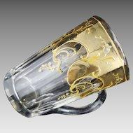 Antique Gilt Crystal Graduated Handled Mug  - c. 19th Century, France