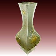 """Antique Large 11"""" Baccarat Vase Daum Nancy Decor Art Glass - c. 19th Century, France"""