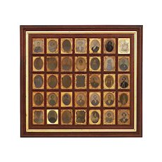 Antique New England 35 Daguerreotype and Ambrotype Portrait Collection Group Historic Museum Quality Framed - 19th Century, USA