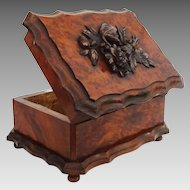 Tahan Paris Burled Walnut and Cast Metal Decor Box / Casket - 19th Century, France