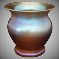 WMF Myra Amber Iridescent Glass Vase Art Deco Period - 1926-1936, Germany