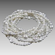 """72"""" Long Fresh Water Cultured Pearl Strand Necklace"""