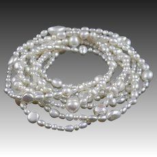"72"" Long Fresh Water Cultured Pearl Strand Necklace"