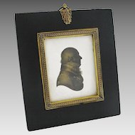 Antique Miers & Field Silhouette Miniature Portrait of Gentleman in Profile - c. 1800's, England