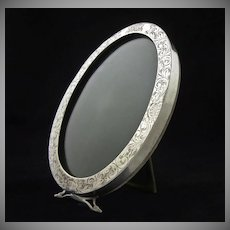 Antique Sterling Oval Picture Frame - c. 19th/20th Century, USA