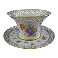 Huge Reticulated German Porcelain Large Bowl and Underplate Centerpiece - c. 1907, Germany